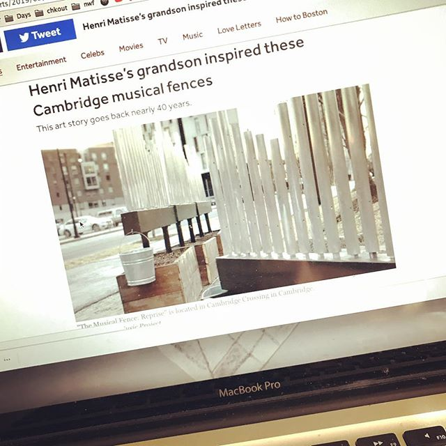One of our installations had a nice writeup in @boston today! Concert of new music + interactivity coming to that location in @cxcambridge on April 20th. Details to come # Cambridge #camberville #pickupmusic project #pickupmusic #soundart #sculpture