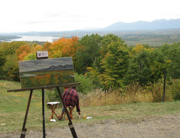 5th annual olana plein air celebration 2016 - 5th Annual Plein Air Celebration at the Olana Estate Hudson, NY. It was a wonderful three day celebration with a number of talented local and regional artists. The Olana Partnership did a wonderful job in hosting this event!Easel painting by Marie Stile