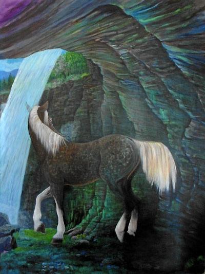 Spring Birth  Acrylic on canvas 6'x7'