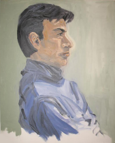 Male Portrait in oil on canvas