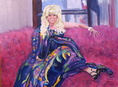 "Commission for tv show Jerseylicious  Acrylic on canvas11""x14"""