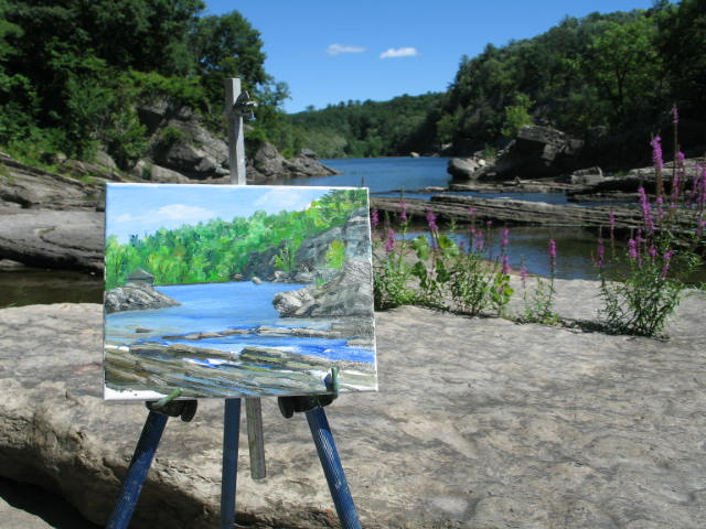 plein air painting - My favorite studio is the one outdoors.  I mainly work on my own but enjoy meeting up with a local group of plein air painters.