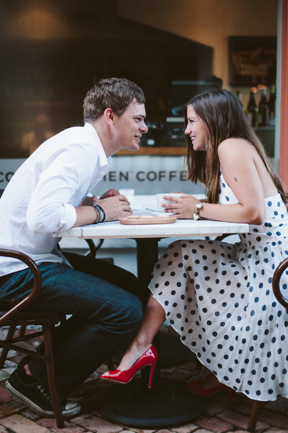 1. my love story - I first met Timothy at an event the nonprofit I worked for at the time was hosting. He was a veteran volunteer, but a couple months after the first time I met him he ended up coming to work at the nonprofit too. We quickly realized there was something there and he took me on our first coffee date. We sat at a table outside of the coffee shop long past closing, until 2 in the morning, talking about EVERYTHING! I texted my best friend when I got home that night saying
