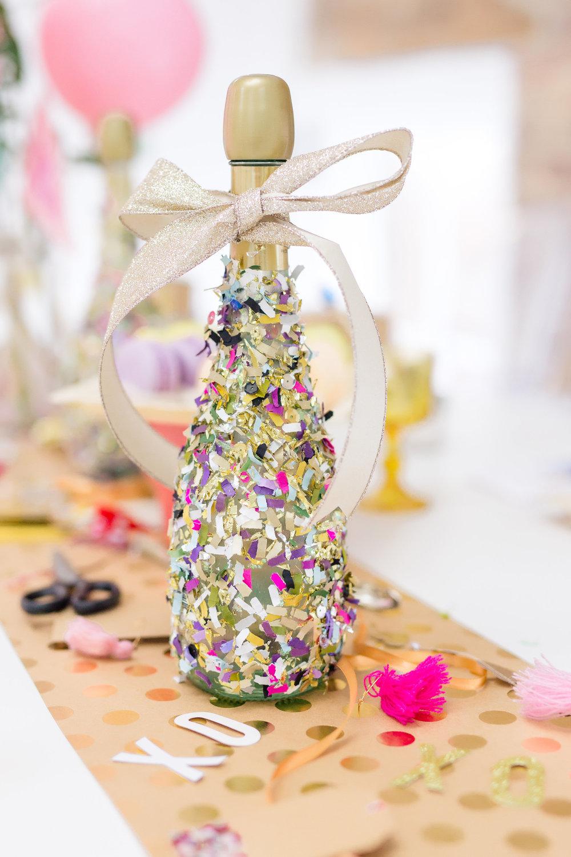 DIY Confetti Bottle of Champagne