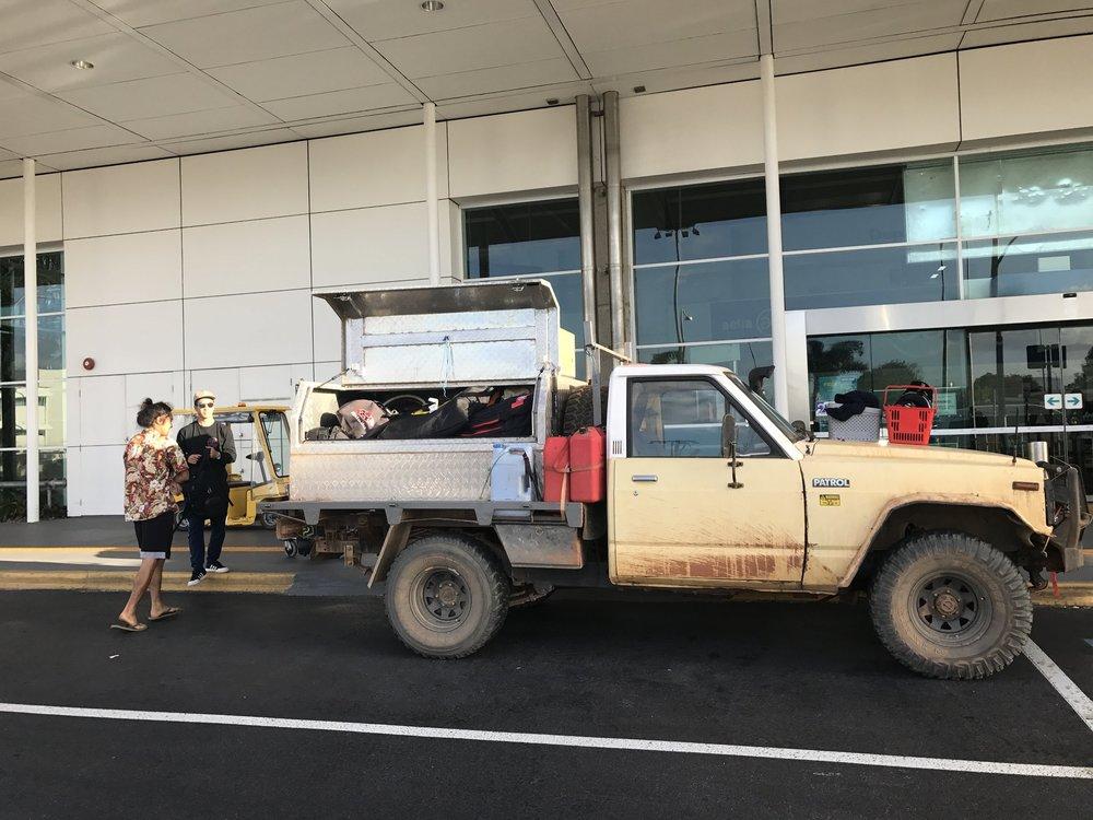 うみかぜ公園ローカルの新山涼太がワーホリでオーストラリア生活しており、ちょうどケアンズにいたので空港にピックに来てもらいました。