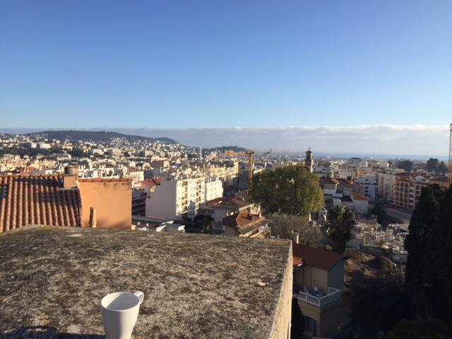 Who wouldn't love Villa Arson with a view over the City like this?! That's Emma's coffee cup!