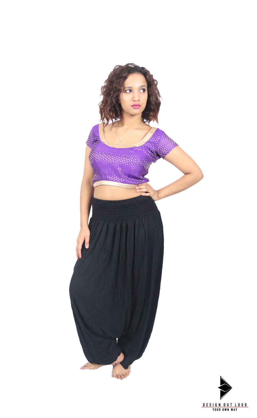 Gold Bordered Purple Crop Top (Front).jpg
