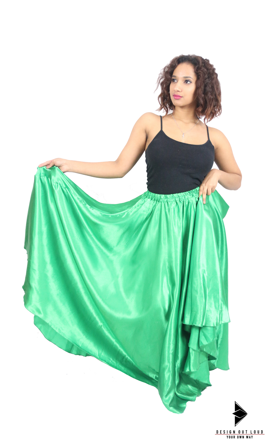 Green Satin Skirt.jpg