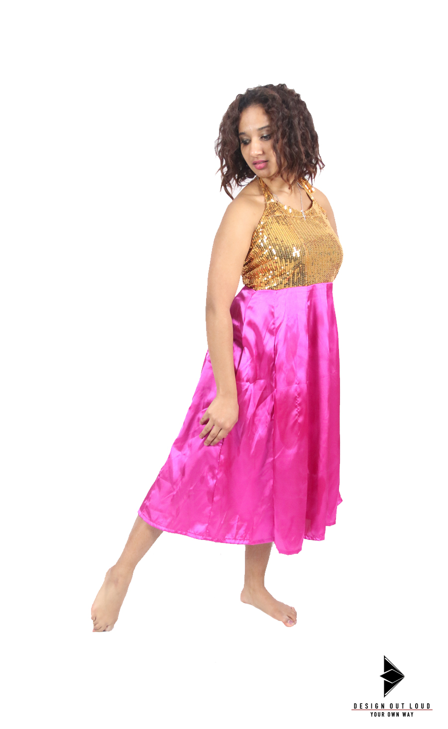 Gold : Pink Anarkali Dress.jpg