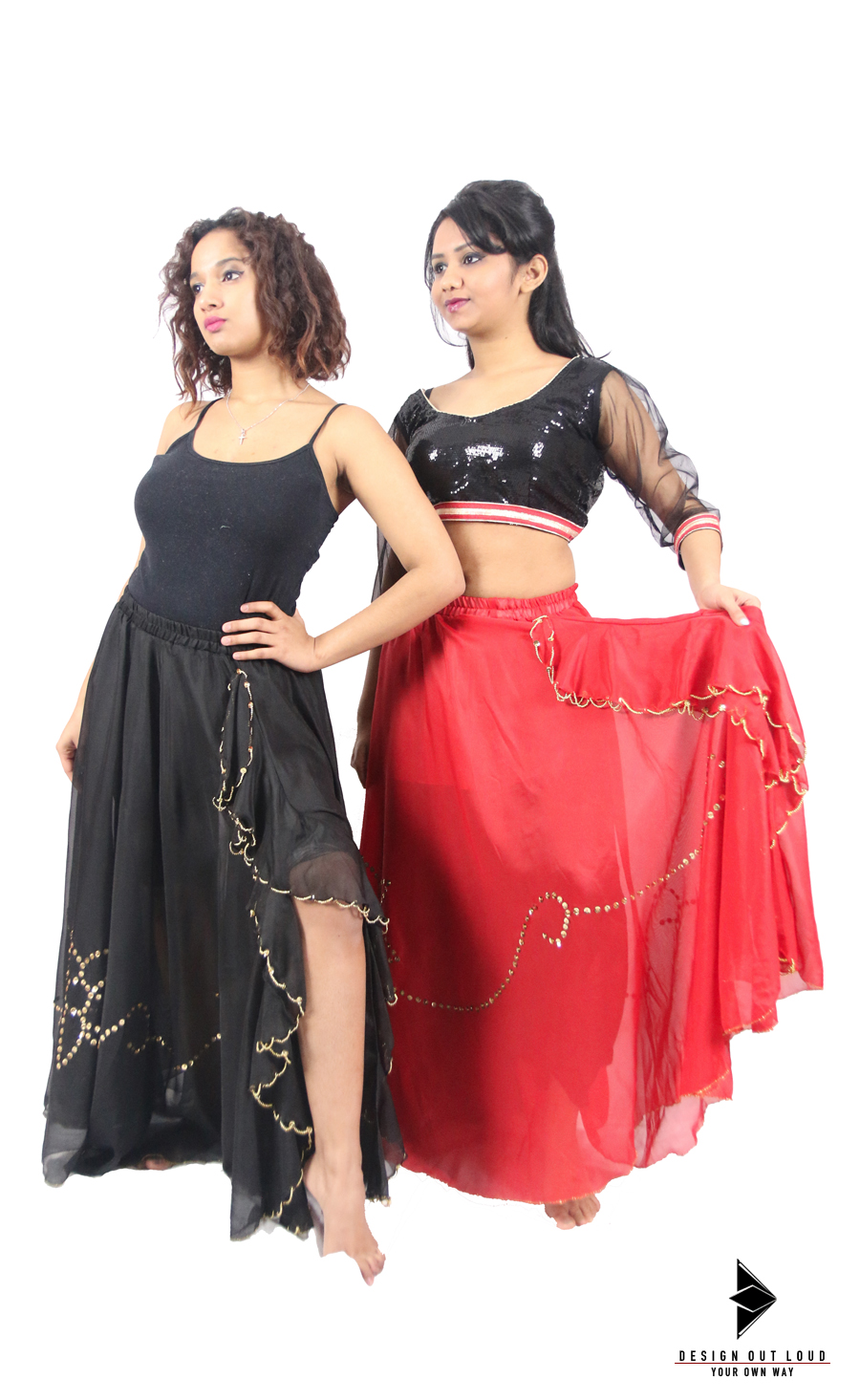 Black : Red Contemporary Skirts.jpg