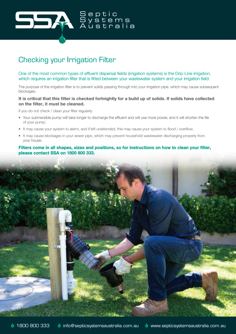 Checking your irrigation filter