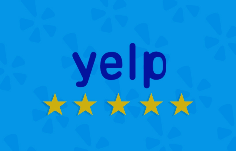RATED FIVE STARS ON YELP -