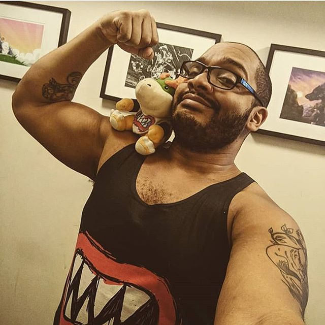 @glitch_this1 wearing Bowser Jr's tank from our Cosplay collection #osoisosom