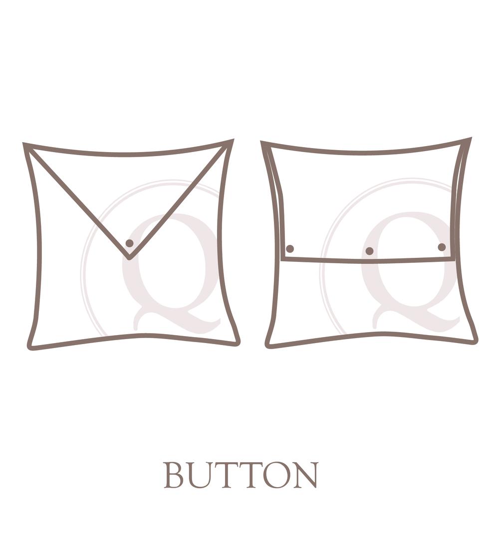 Button pillow closure