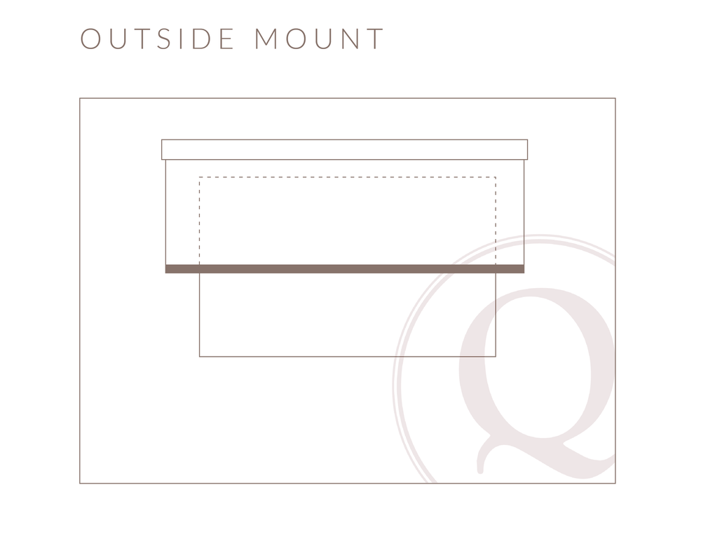 Outside Mount Roller Shade