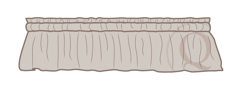 Gathered Valance Drawing