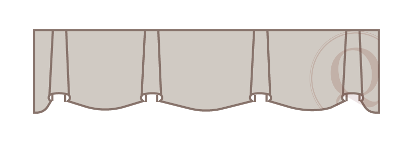 Scalloped Valance Drawing