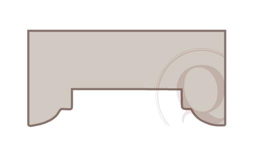 Curve Step Straight Cornice Drawing