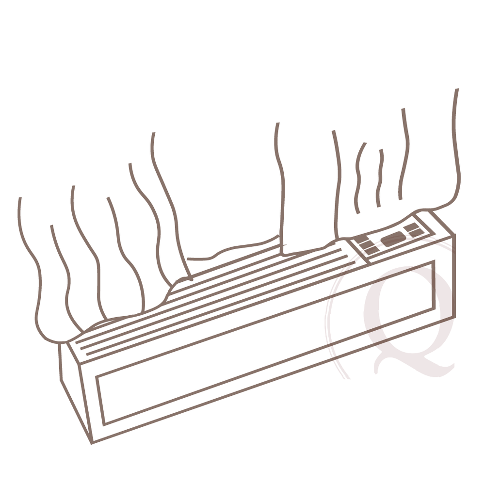 - 3. If PTAC units have vertical louvers or inadequate depth behind the vent, drapery treatments will often sit directly above air flow minimizing the flow of air into the room.