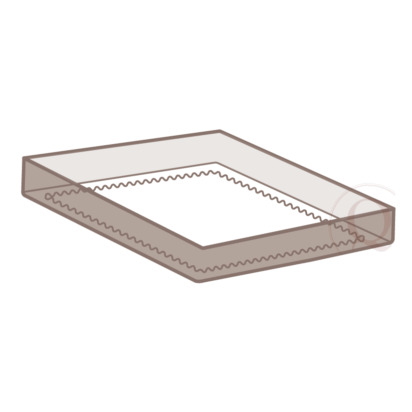 Continuous Elastic - Elastic is sewn into the bottom edge all around the box spring cover, therefore making it 'continuous' on all sides of the drop.