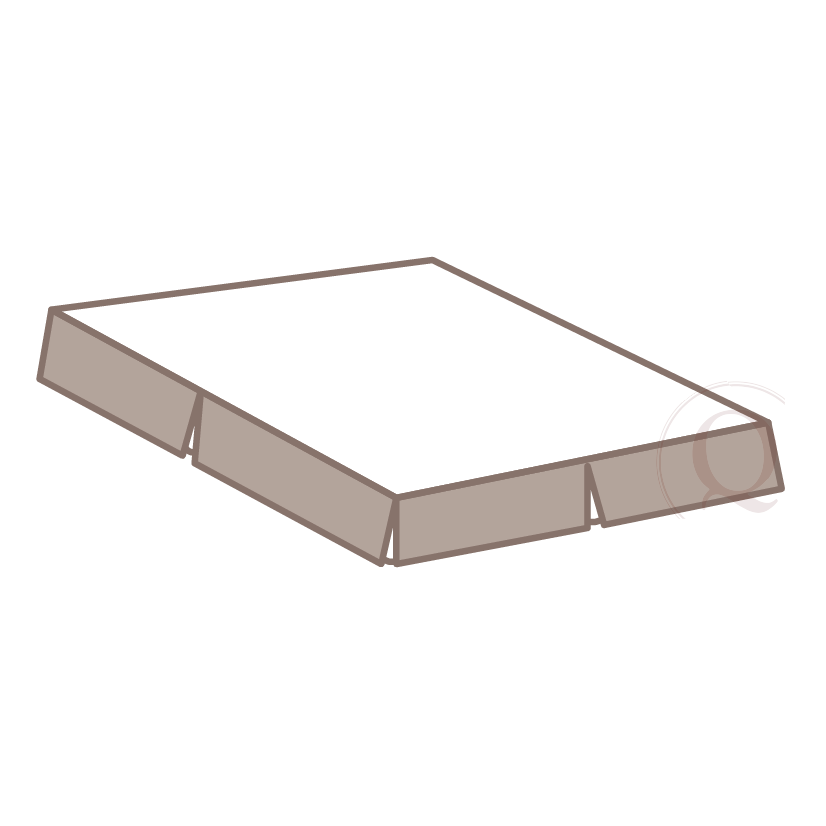 """Bed-skirt: - a bottom of bed cover that begins at the top of the box spring and finishes ½"""" off the finished floor. This covers the box spring and the space below to the floor."""