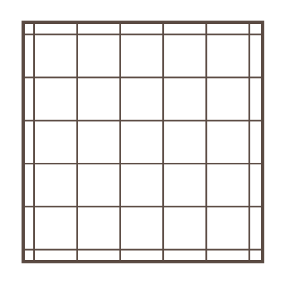 """Box - This non-directional pattern lends itself to use on both the top and bottom of the bed, although smaller configurations may be available our standard spacing is 6"""", 8"""" or 10"""", also not recommended for use with fabric patterns with straight lines as quilt pattern and print pattern will rarely align."""