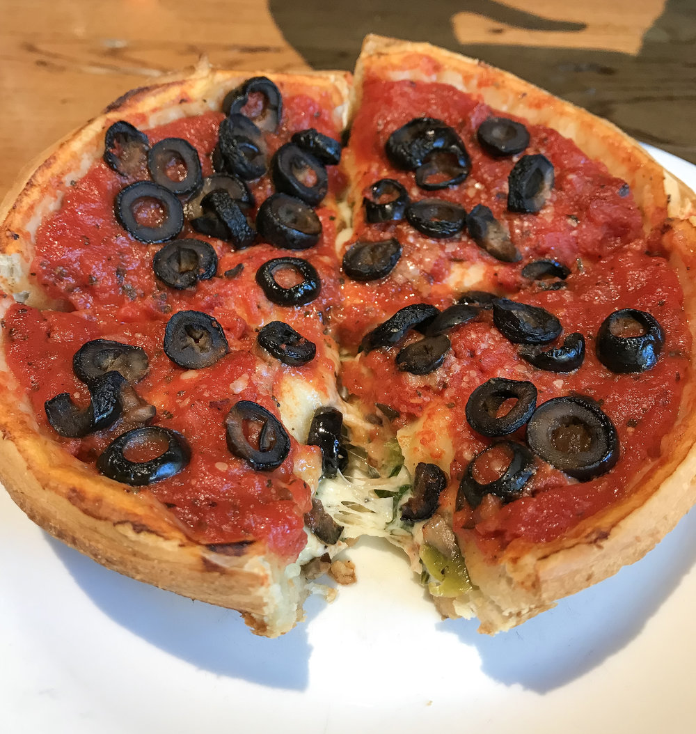 Giordano's Pizza Pie - ¡No puedes irte de Chicago sin probarla!