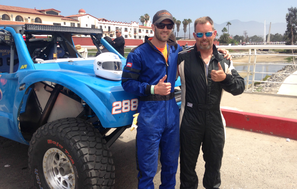 Left: me, Right: Mark in Ensenada, BC at the start of the 2016 Baja 500.