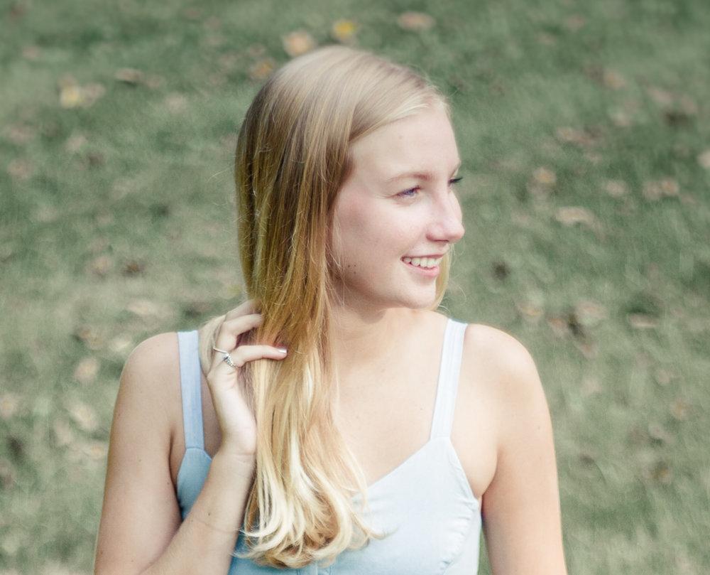 Hanover High School portrait - Claire - Stacie Marshall photographer