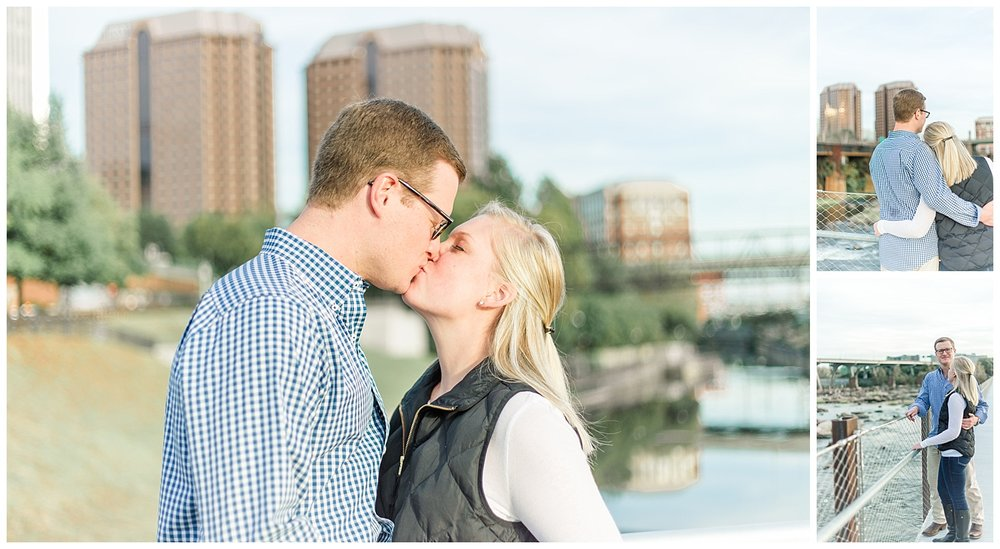 Fall Engagement Photos - T Tyler Potterfield Memorial Bridge, Richmond Virginia
