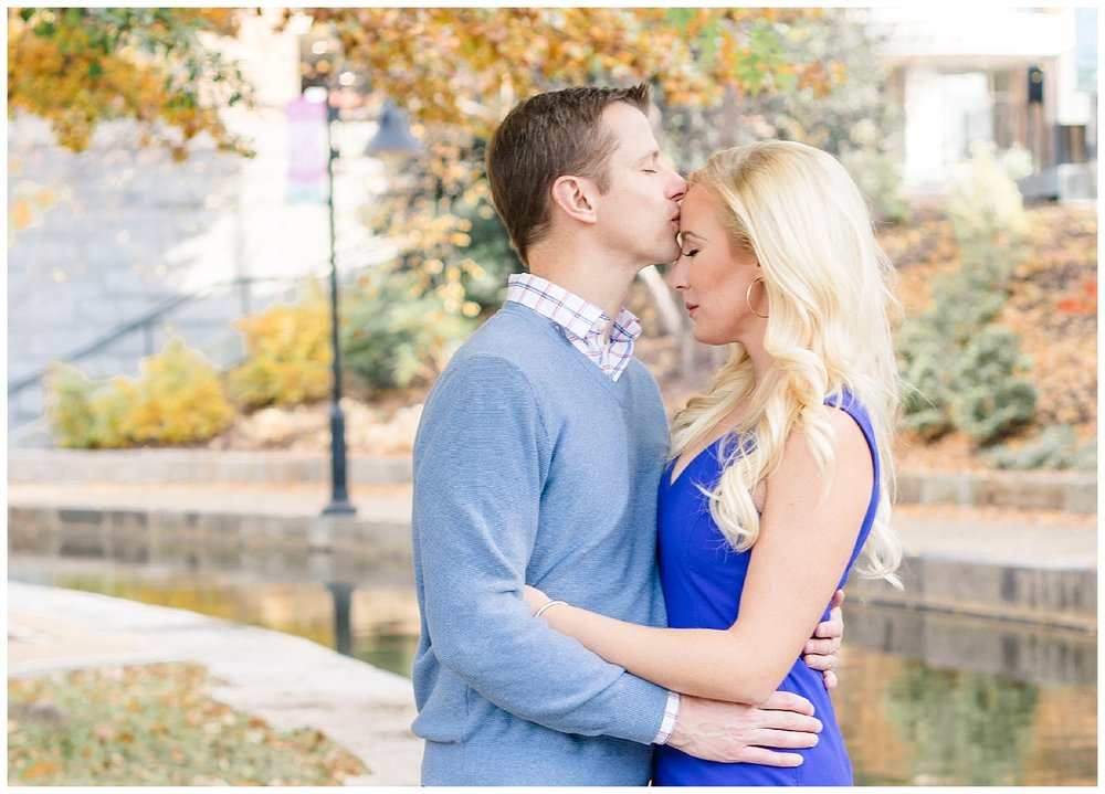 Richmond, Virginia engagement portrait - Canal Walk - Shockoe Bottom