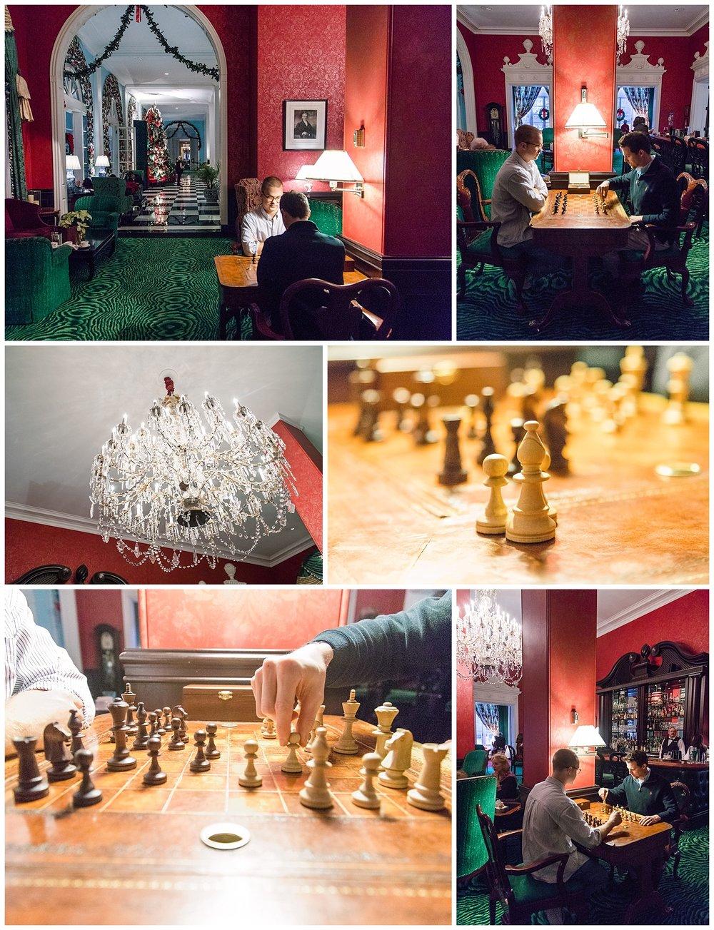 Greenbrier Lobby Bar - chess