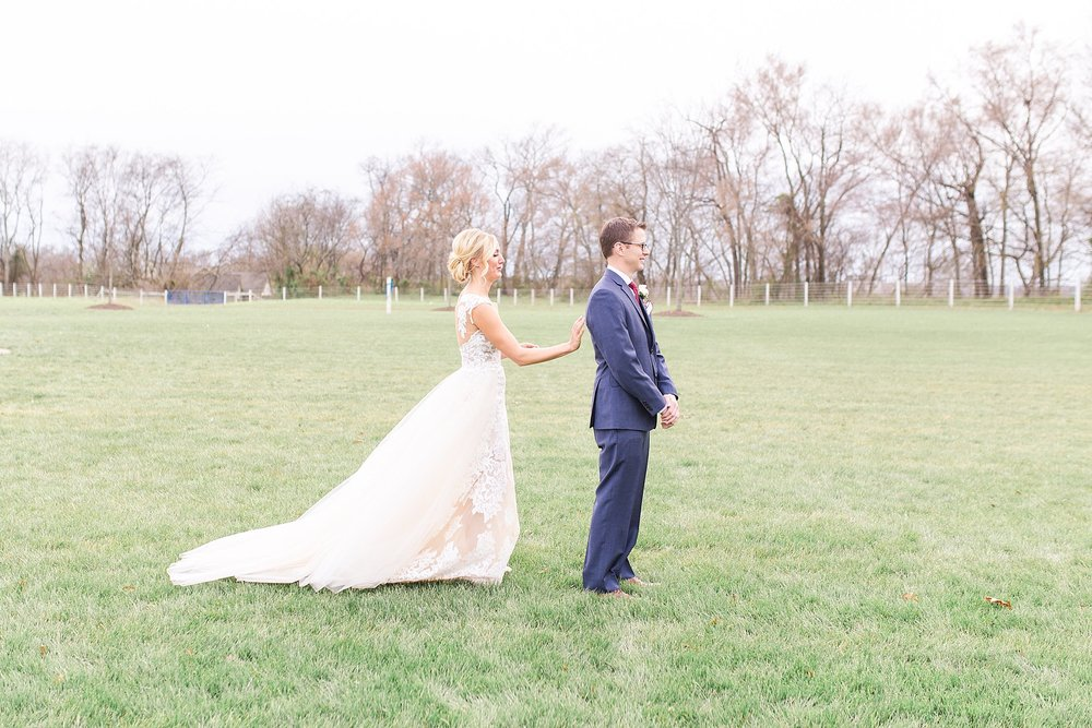 Virginia wedding at Upper Shirley Vineyards - First Look