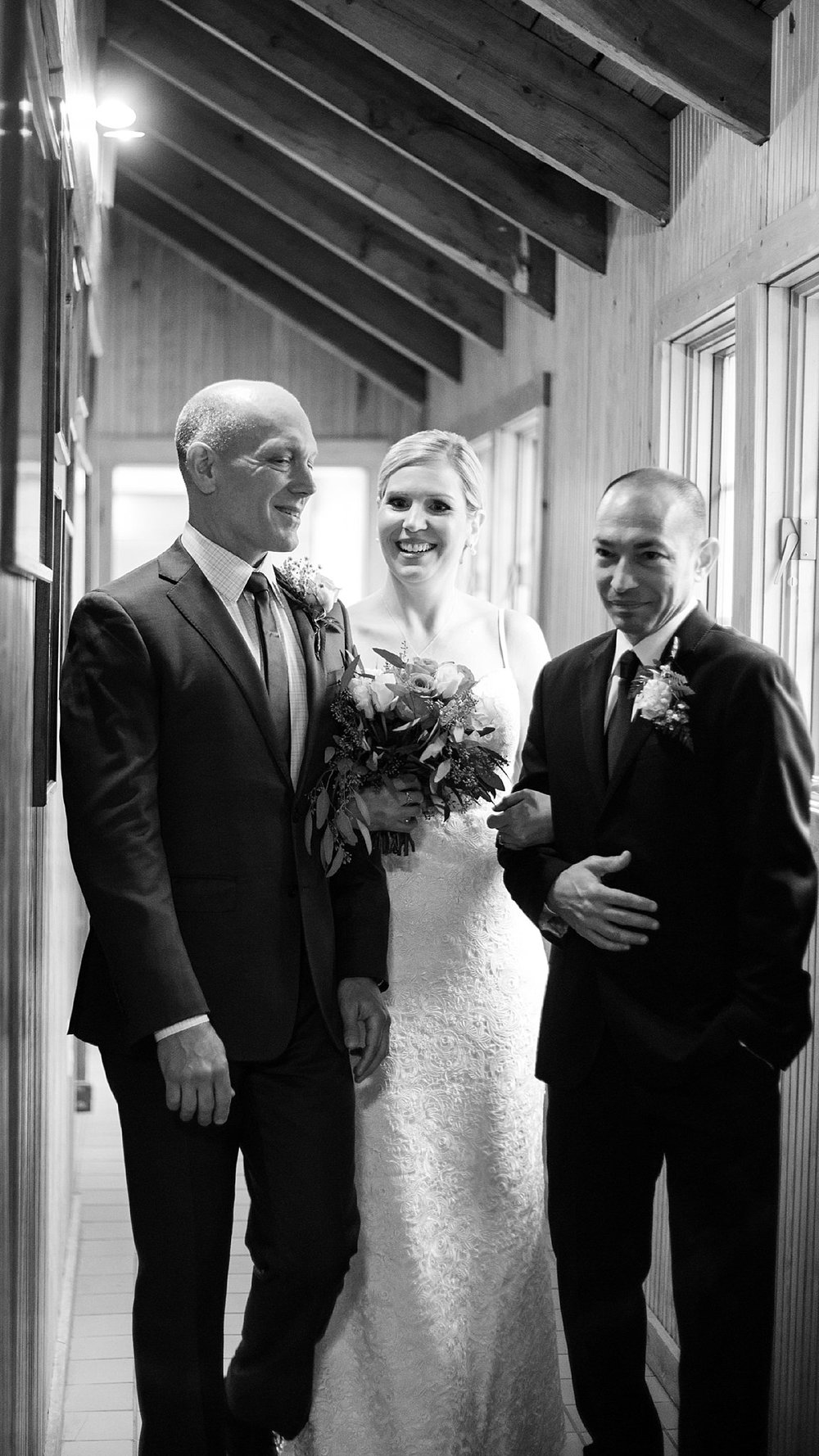 Bride Waits to Walk Down the Aisle - Virginia Wedding
