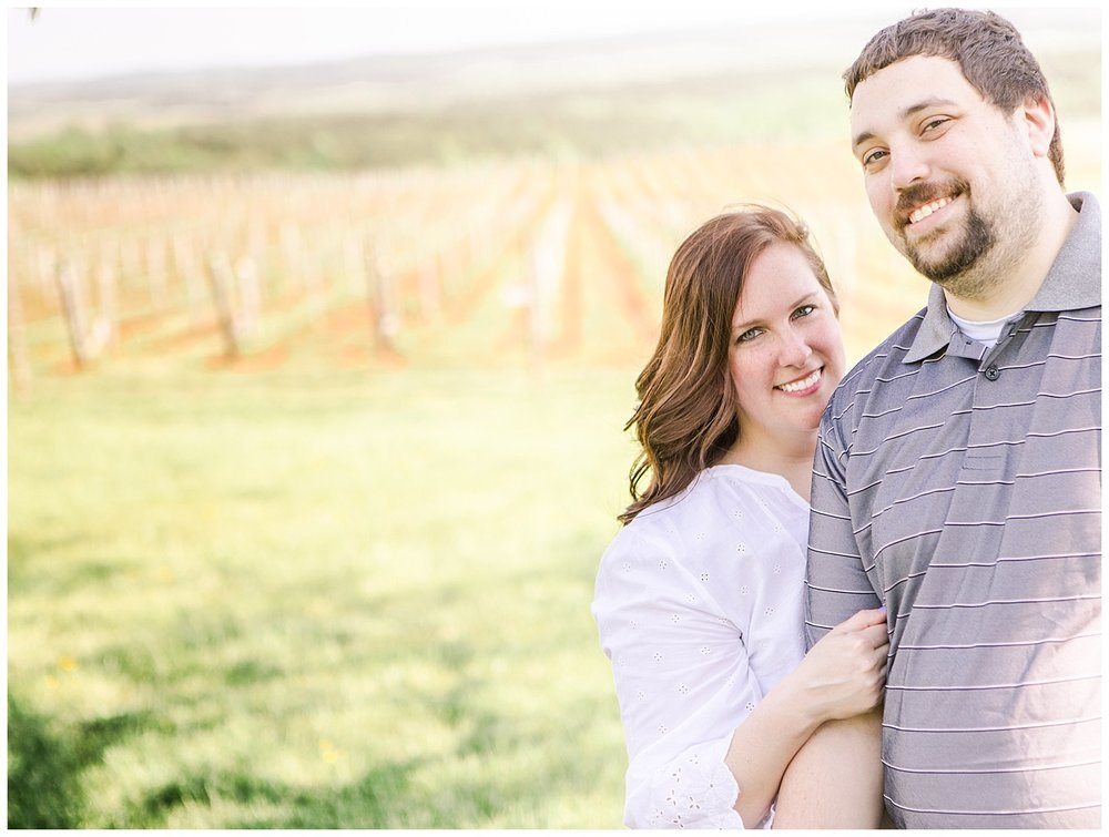 Blenheim Vineyards, Virginia Engagement Session - Holly + Ken