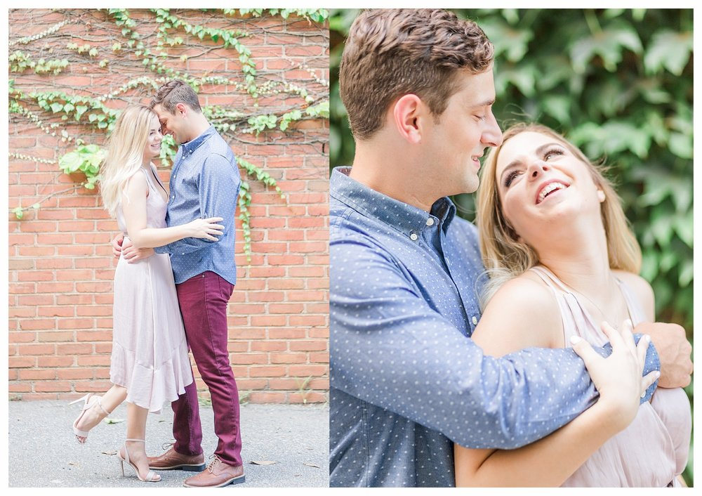 Richmond Engagement Photos - Shockoe Bottom Ivy Wall - Katie + Reid