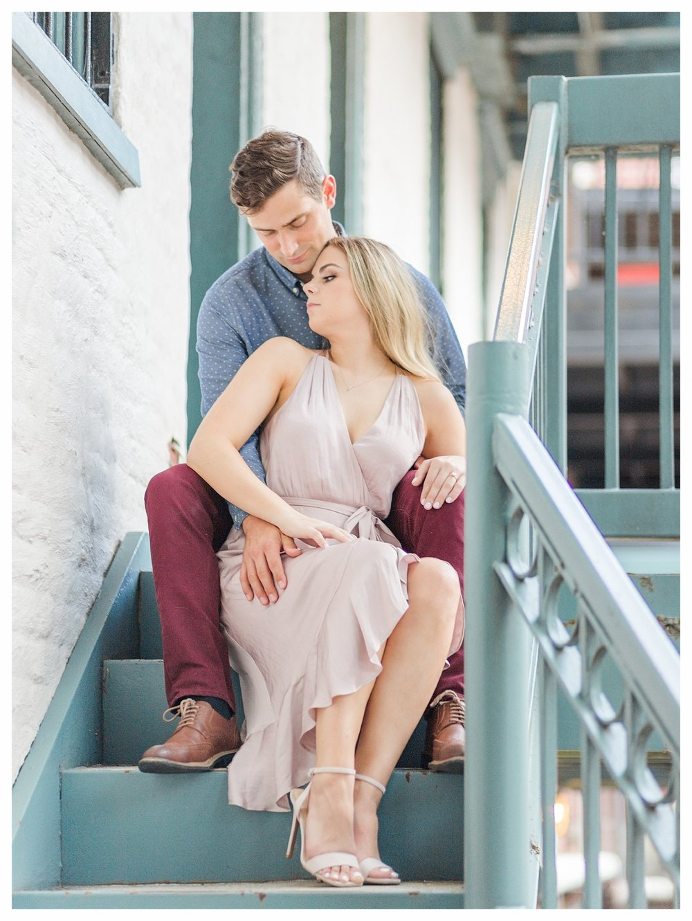 Richmond Engagement Photos - Shockoe Bottom - Katie + Reid