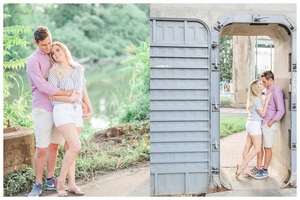 Richmond Engagement Photos - Shockoe Bottom Low Line Park - Katie + Reid