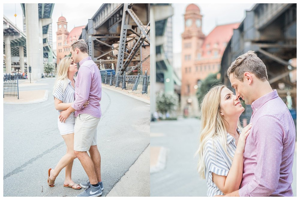 Richmond Engagement Photos - Shockoe Bottom Main Street Station - Katie + Reid