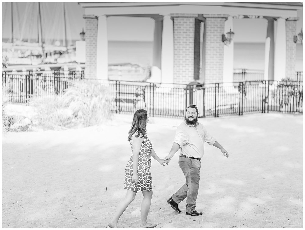 Yorktown Beach Engagement Photos - Sarah + Patrick