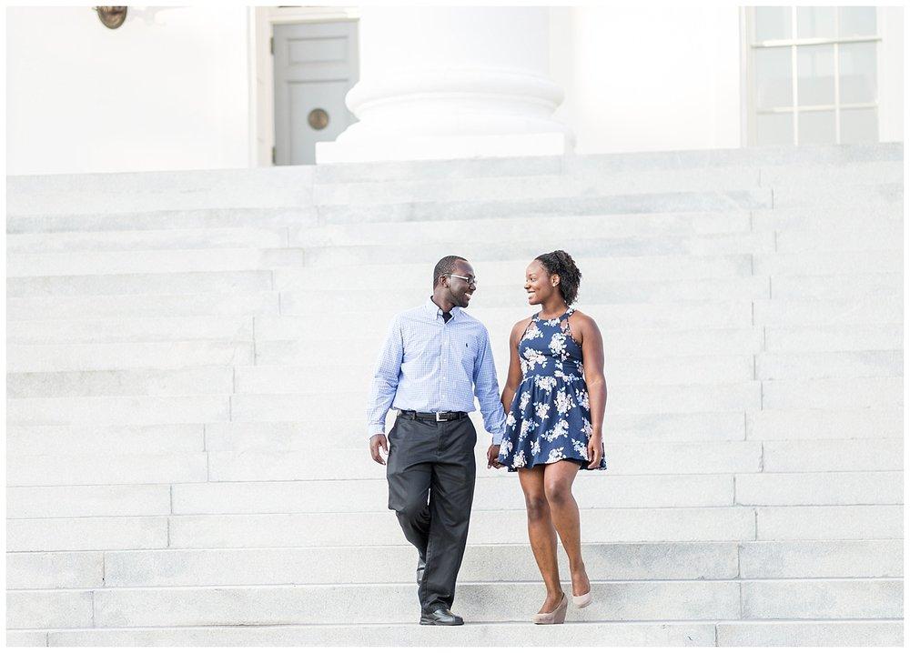 Richmond Capitol Engagement Photos - Cherise + Jeremy