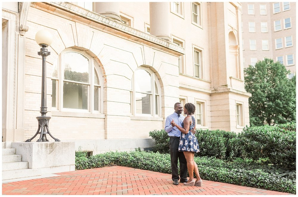 Virginia State Capitol engagement portraits - Cherise + Jeremy