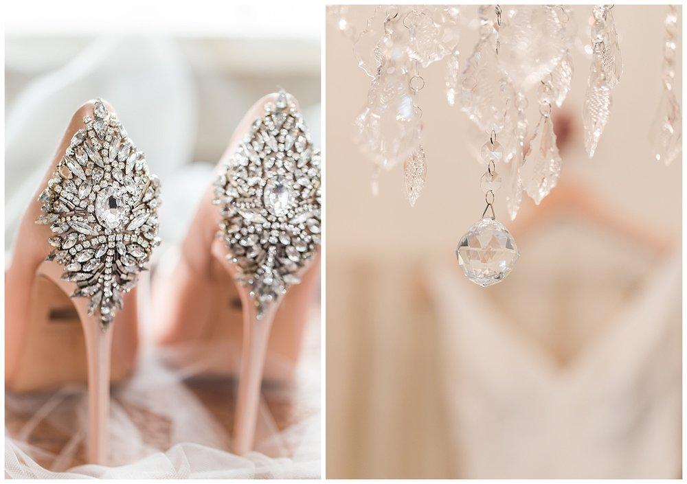 Vineyard Estate at New Kent Winery wedding photographer - Badgley Mischka shoes
