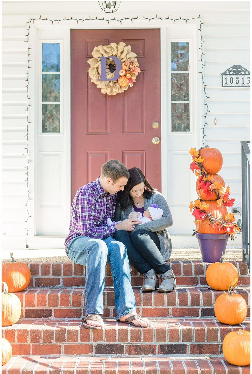 Virginia Fine Art Family Photography - Newborn Baby in Pumpkin
