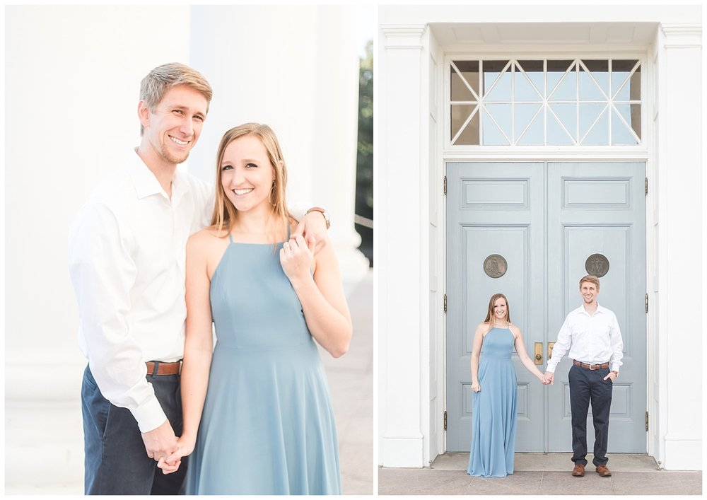 Virginia State Capitol Engagement - Abigail + Greg - Richmond Wedding Photographer