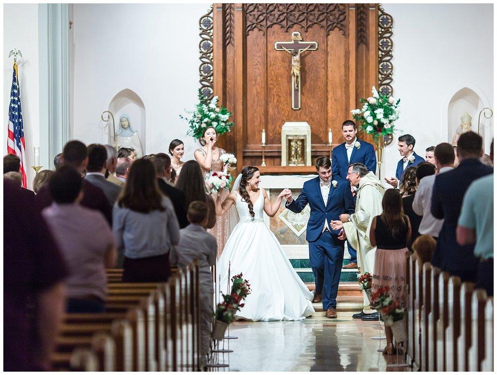 Virginia wedding Photographer - St Bridget's Catholic Church - Jessica + Josh
