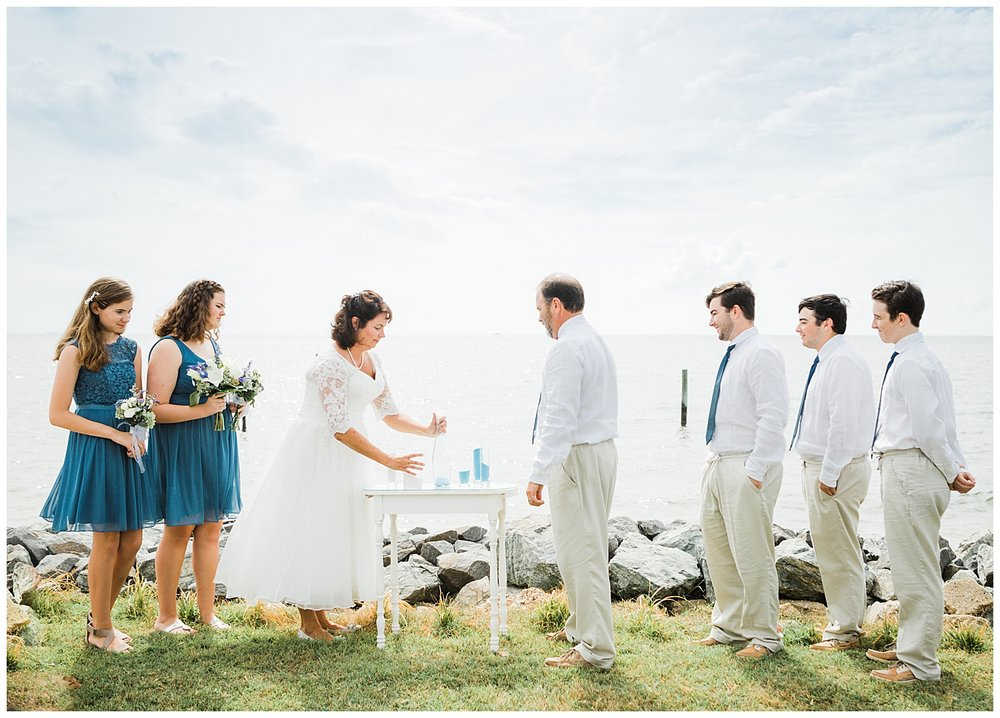 Deltaville Virginia Wedding Photography - Intimate Wedding by the Water