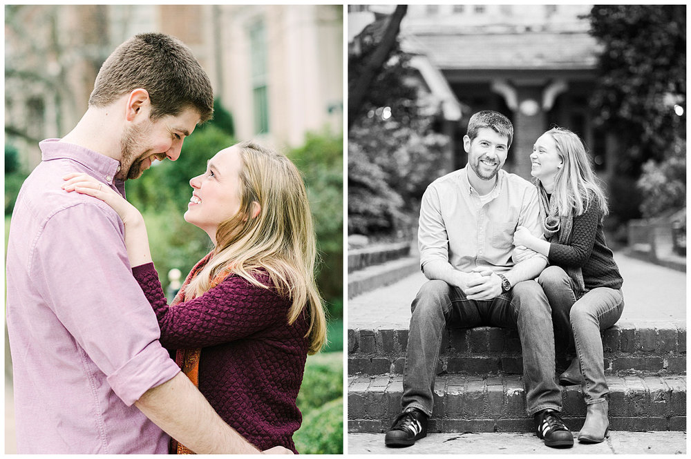 Monument Avenue Engagement Session - Virginia Wedding Photographer
