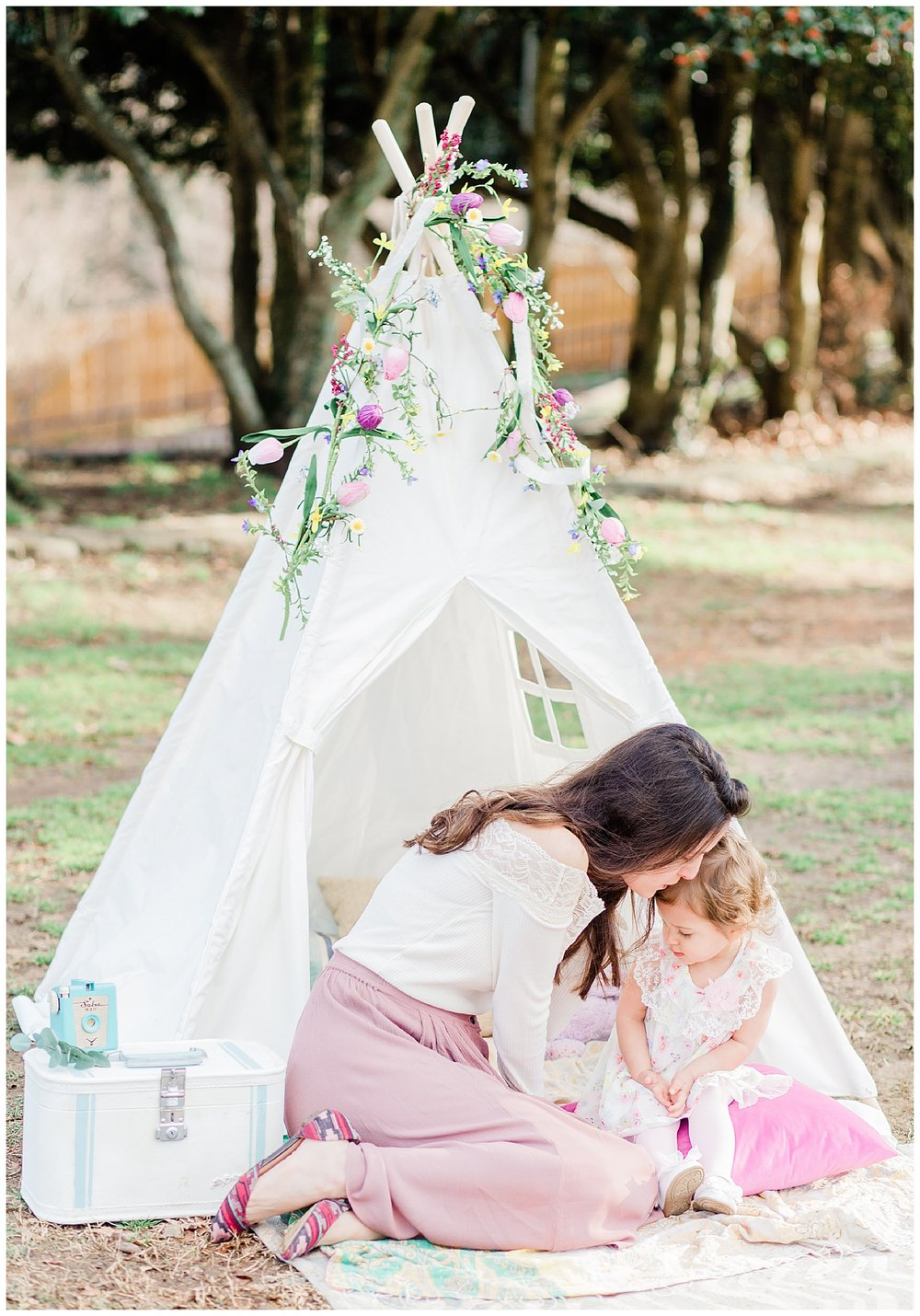 Mommy and Me Photos - Bohemian Styled Shoot