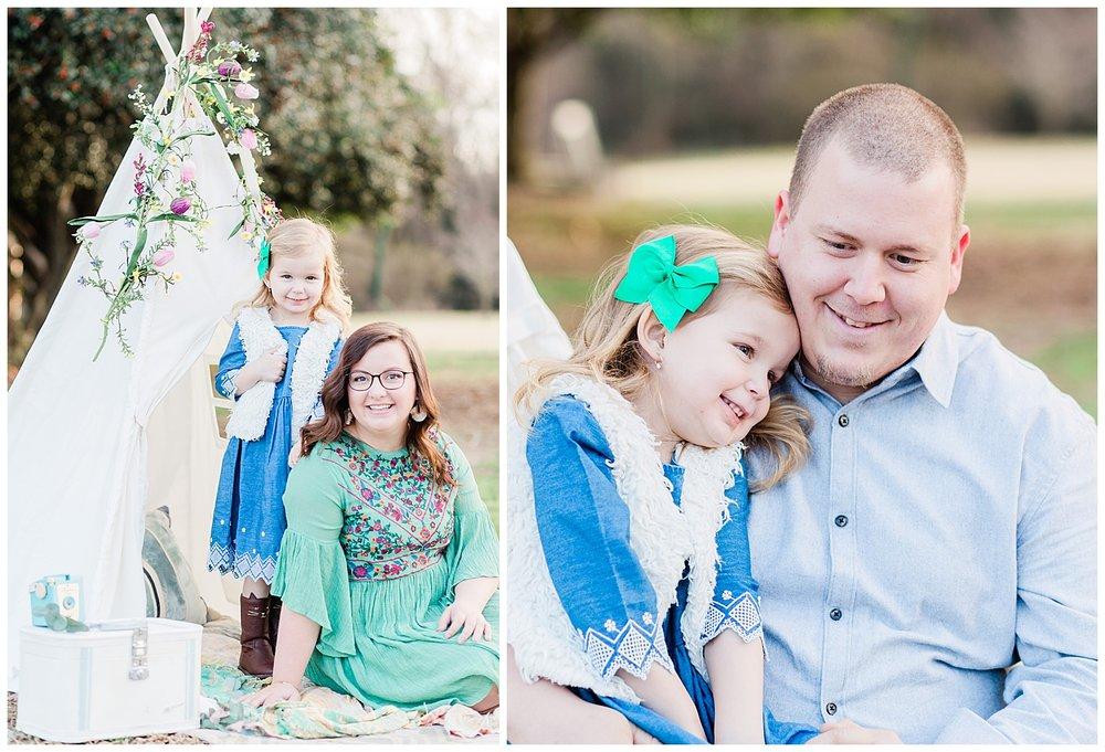 Teepee family portraits - Richmond, VA